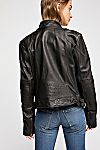 Thumbnail View 3: Fitted and Rugged Leather Jacket