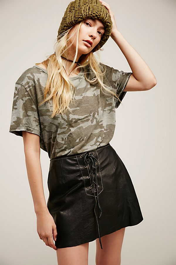 9f34b07450 Join Hands Leather Skirt | Free People