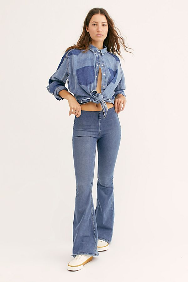 Free People Penny Pull On Flare Jeans New