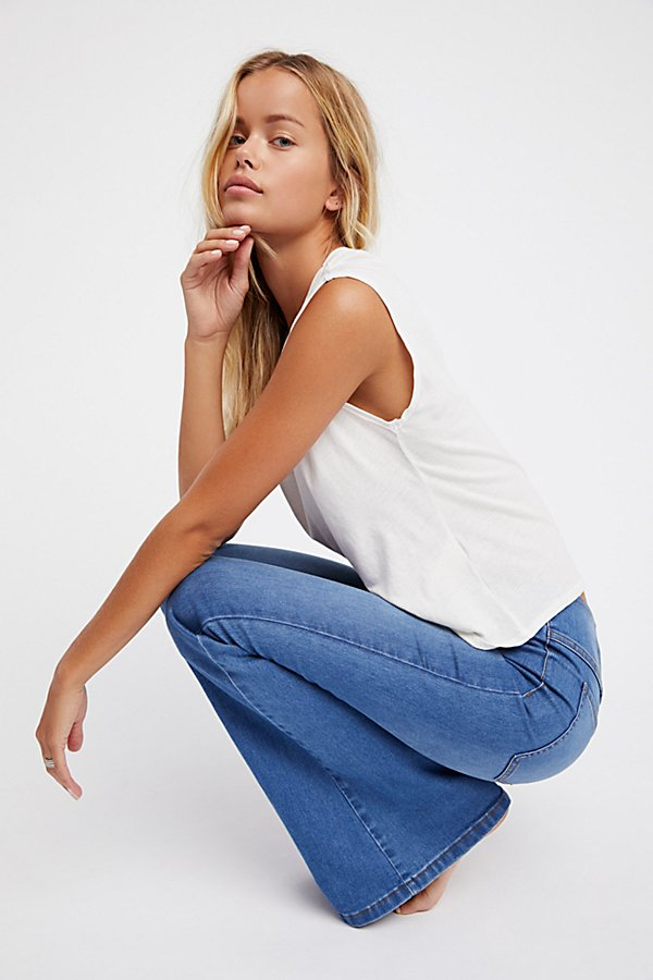 Slide View 1: Penny Pull-On Flare Jeans