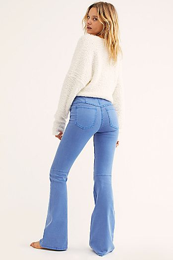 Penny Pull-On Flare Jeans