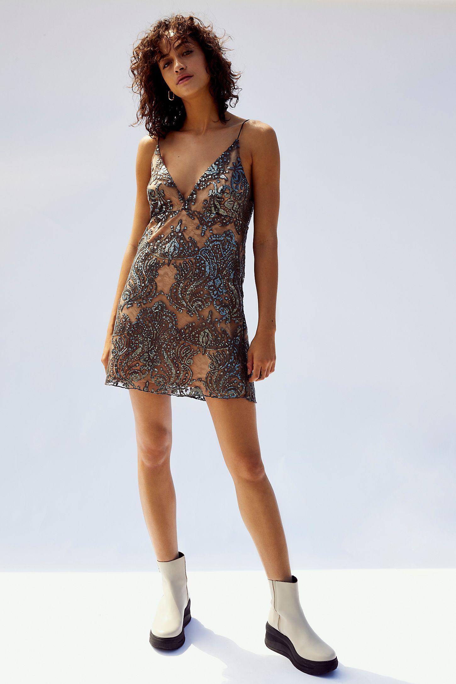 72d03c335fb Slide View 6: Night Shimmers Mini Dress