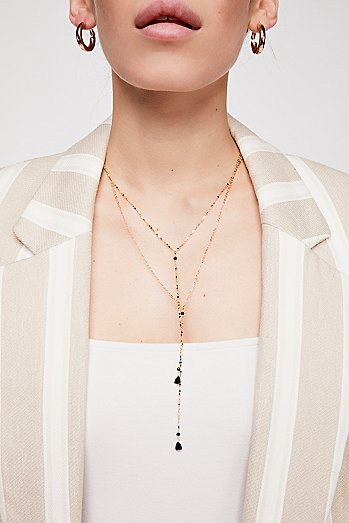 Winnie Raw Stone Delicate Bolo Necklace