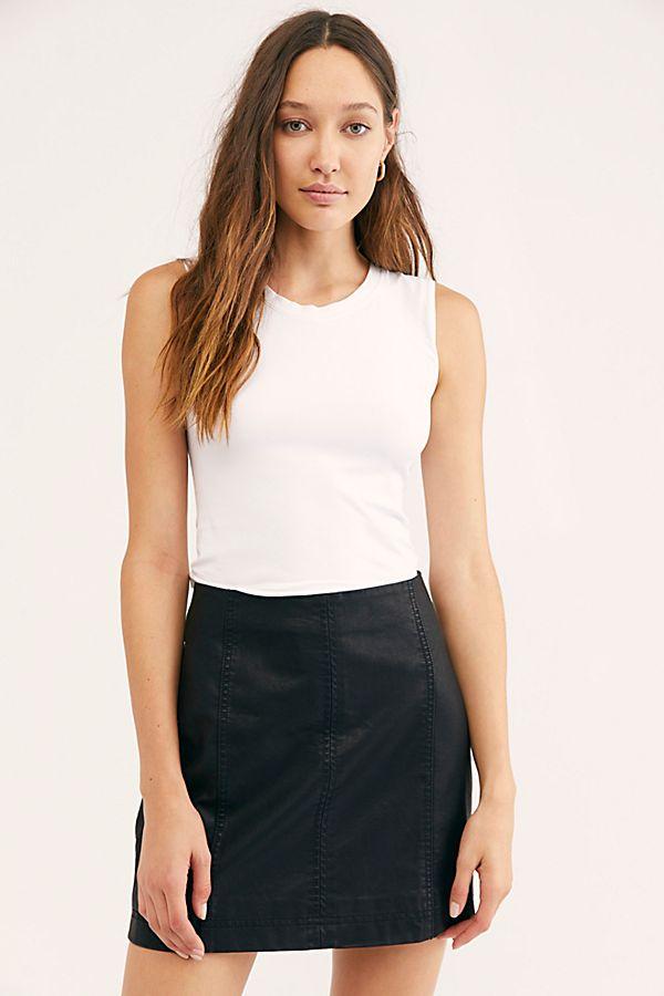 b33e9db646 Slide View 2: Modern Femme Vegan Leather Mini Skirt