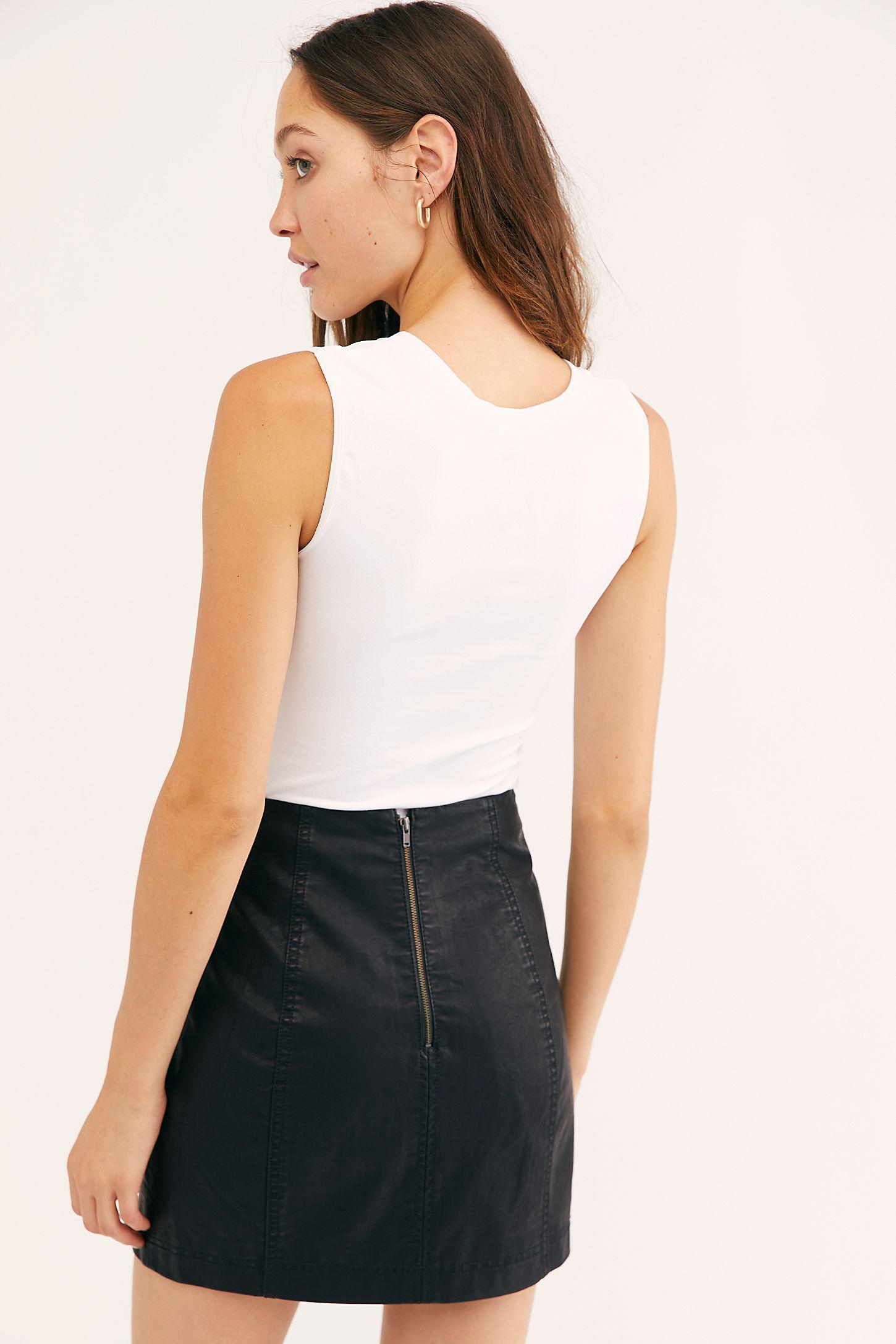 9854aec6f6 Slide View 3: Modern Femme Vegan Leather Mini Skirt