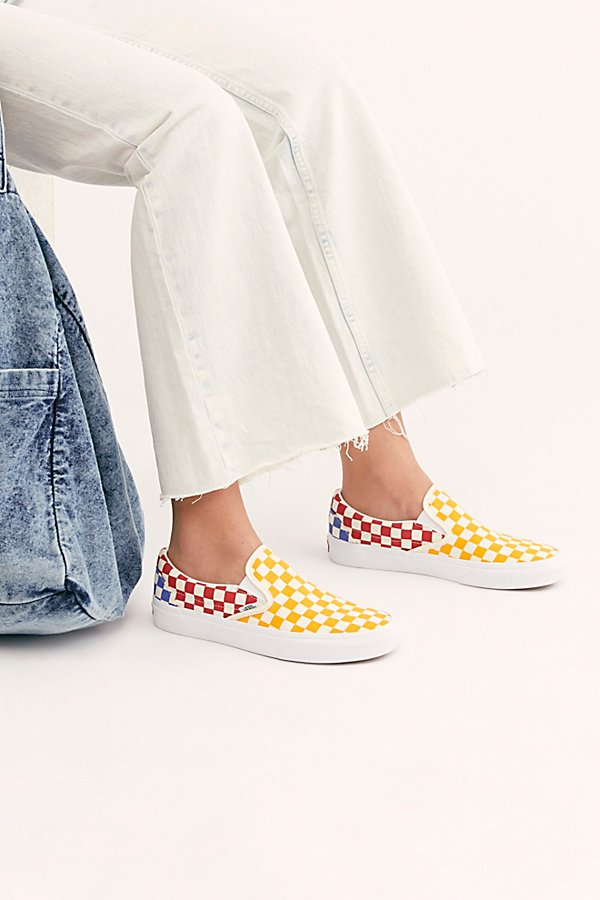 Slide View 1: Classic Checkered Slip-On