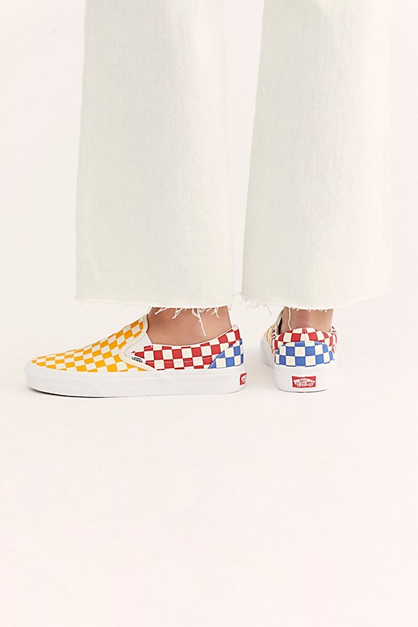 Slide View 4: Classic Checkered Slip-On