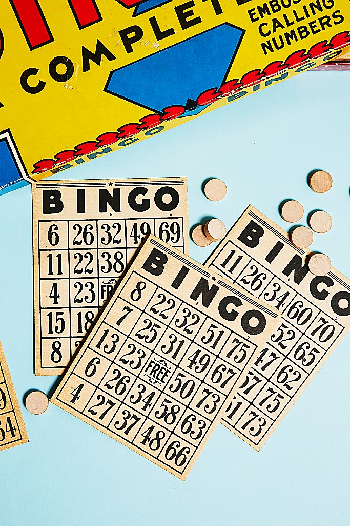 vintage bingo set