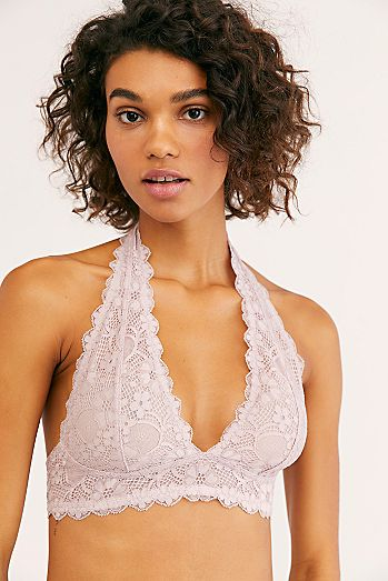 a1fcd8ae4d2 Galloon Lace Halter Bra
