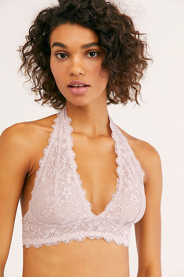 e98f9c8b4b0 Slide View 1  Galloon Lace Halter Bra