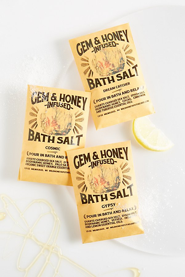 Slide View 1: Wild Honey Apothecary Gem & Honey Infused Bath Salts