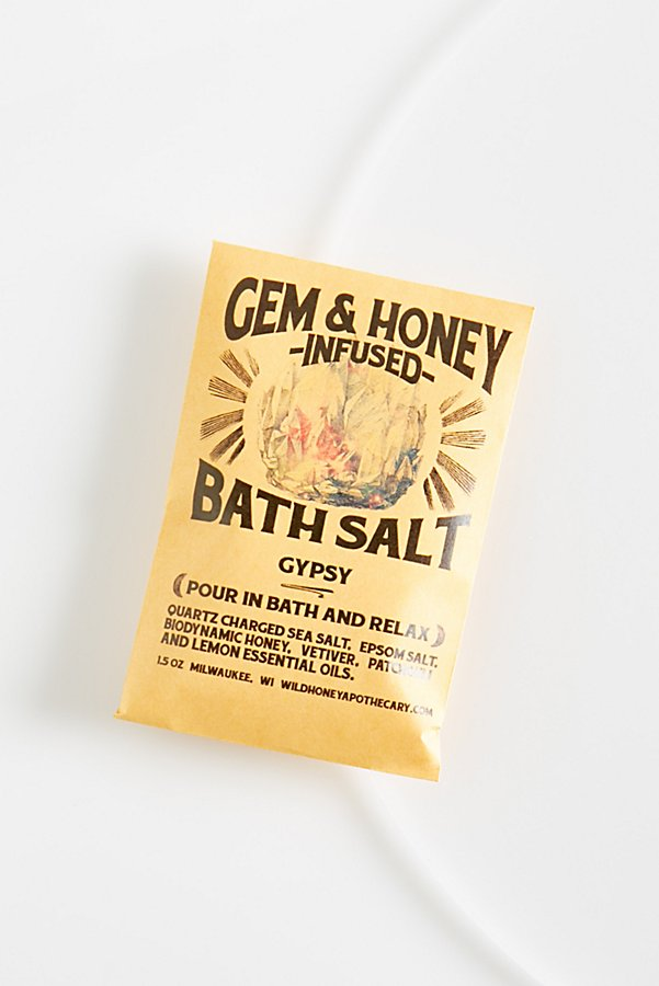 Slide View 2: Wild Honey Apothecary Gem & Honey Infused Bath Salts