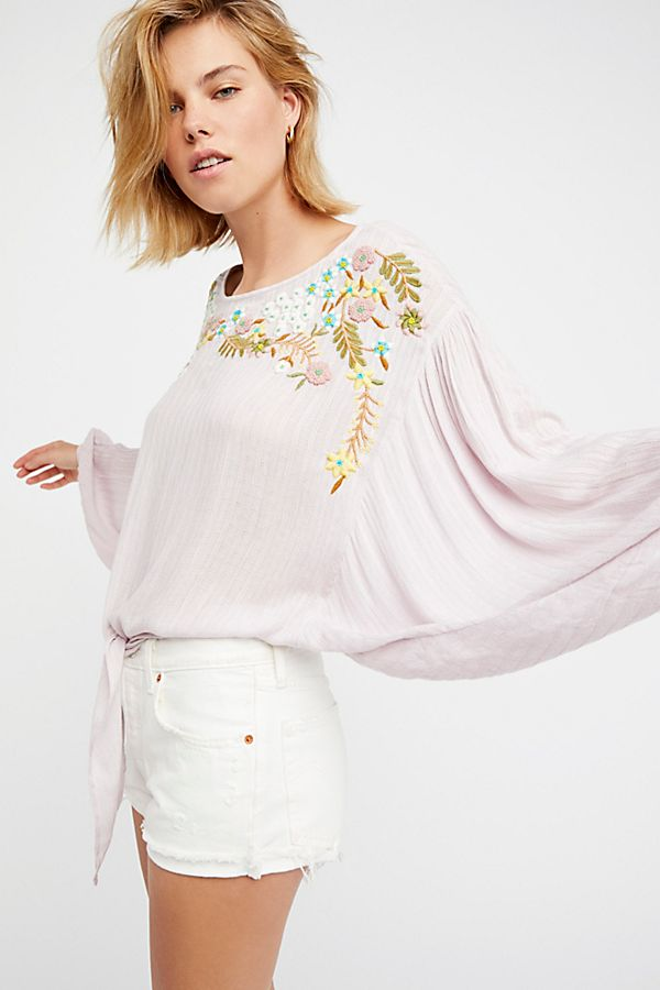 2a9a7b7efd3bf3 Up and Away Embroidered Top | Free People