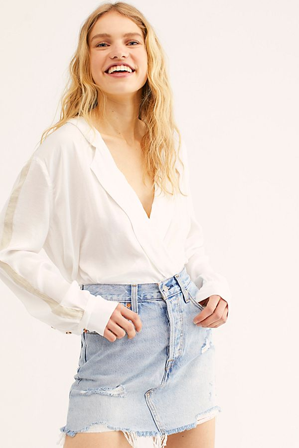 6338f87ab Slide View 1: Levi's Deconstructed Denim Skirt