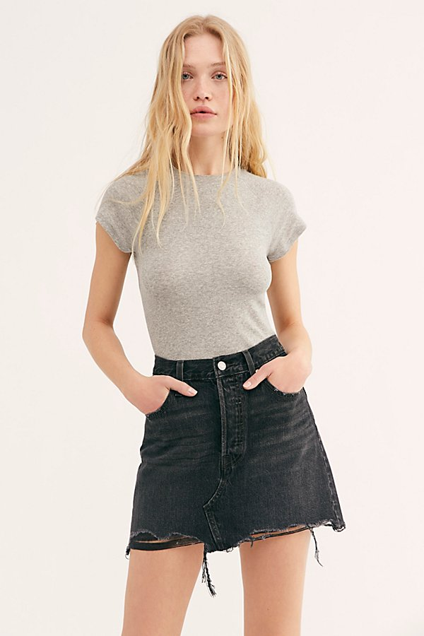 Slide View 1: Levi's Deconstructed Denim Skirt