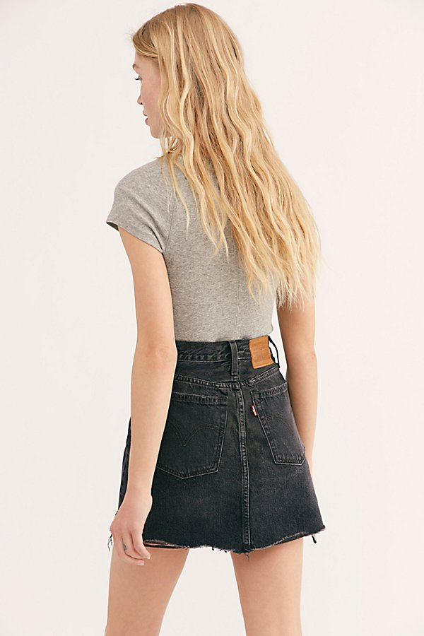 Slide View 2: Levi's Deconstructed Denim Skirt