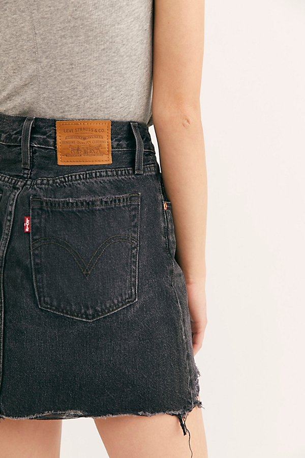 Slide View 3: Levi's Deconstructed Denim Skirt