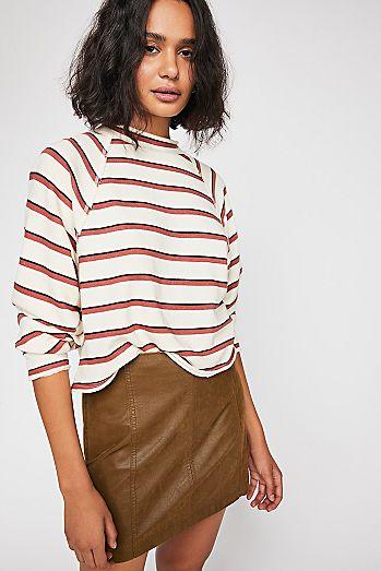 bc40a28f8 Modern Femme Vegan Suede Mini Skirt