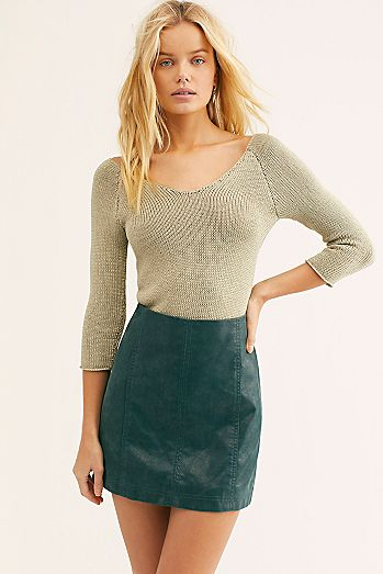 be68594a3b Modern Femme Vegan Suede Mini Skirt