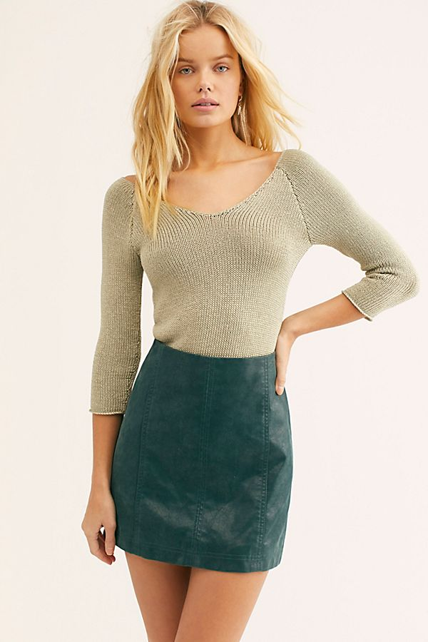 bd444ee72 Slide View 1: Modern Femme Vegan Suede Mini Skirt