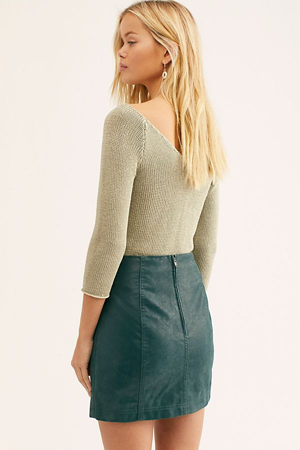 ff27319ad83 Slide View 2: Modern Femme Vegan Suede Mini Skirt