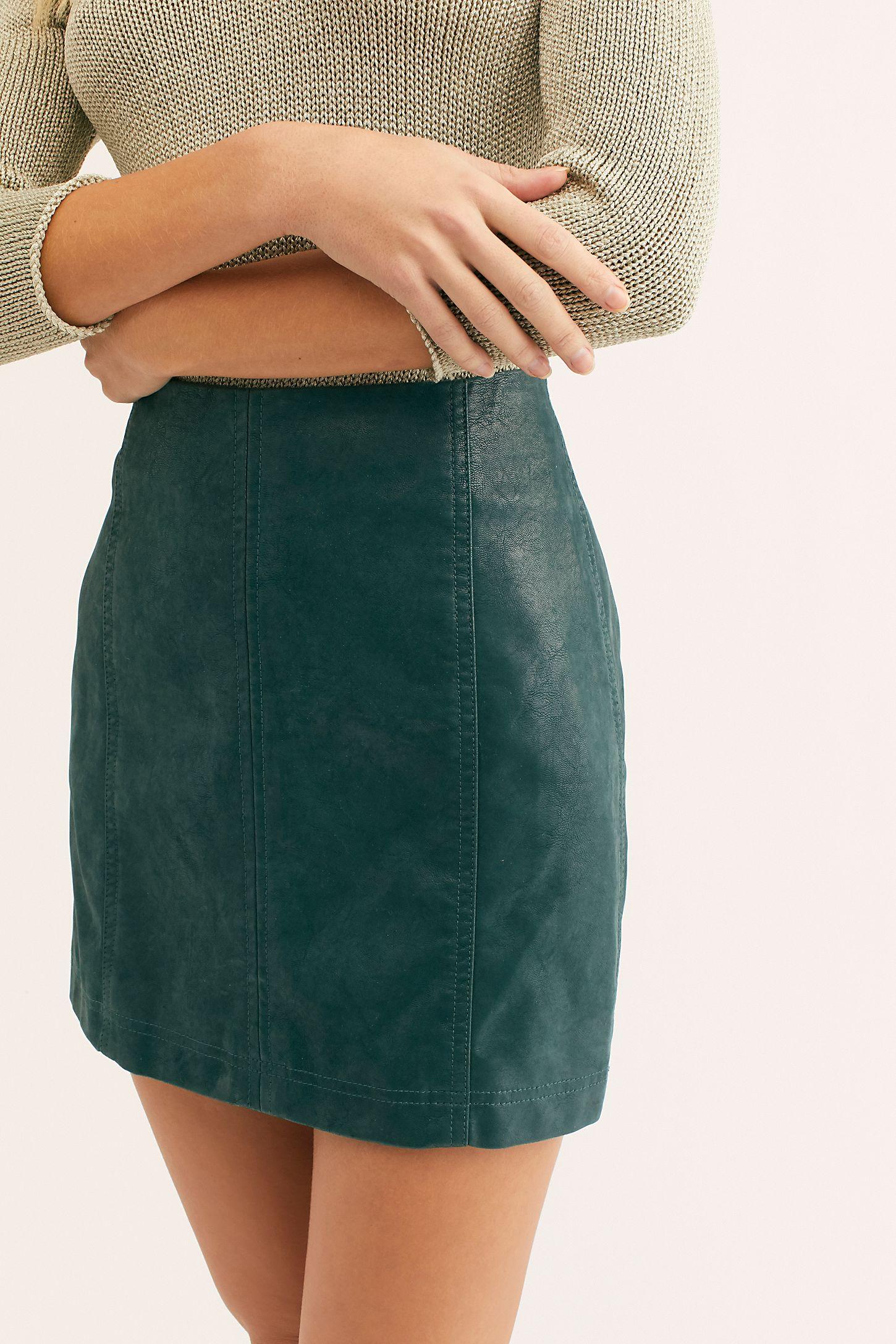 6baaa98337 Slide View 3: Modern Femme Vegan Suede Mini Skirt