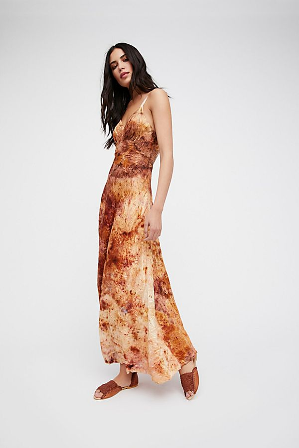 Fp Vintage Revival Over Dyed Maxi Slip Dress Free People