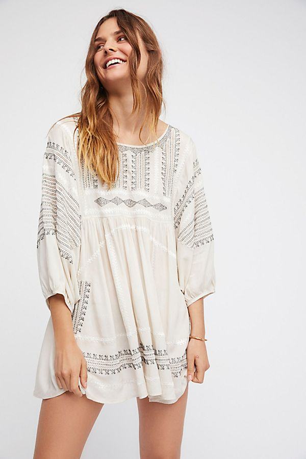 8d89bd8452ff74 Wild One Embroidered Top | Free People