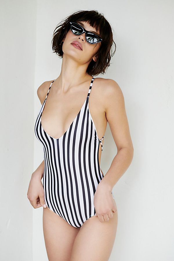 e98be6f0c664a Farrah One-Piece Striped Swimsuit | Free People