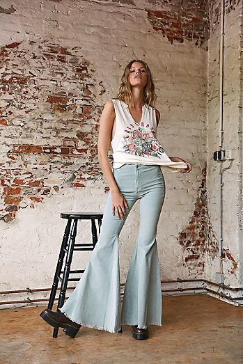 21+ Free People Bell Bottoms Gif