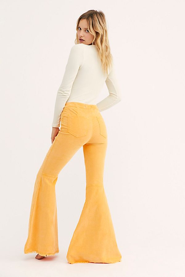 Free People Just Float On Cord Flare Bell Bottom Corduroy 24 27 29 31