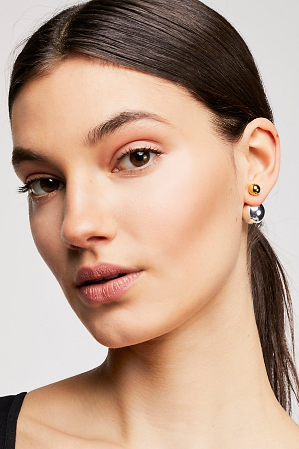 Slide View 1: Double Sided Orbit Stud Earrings