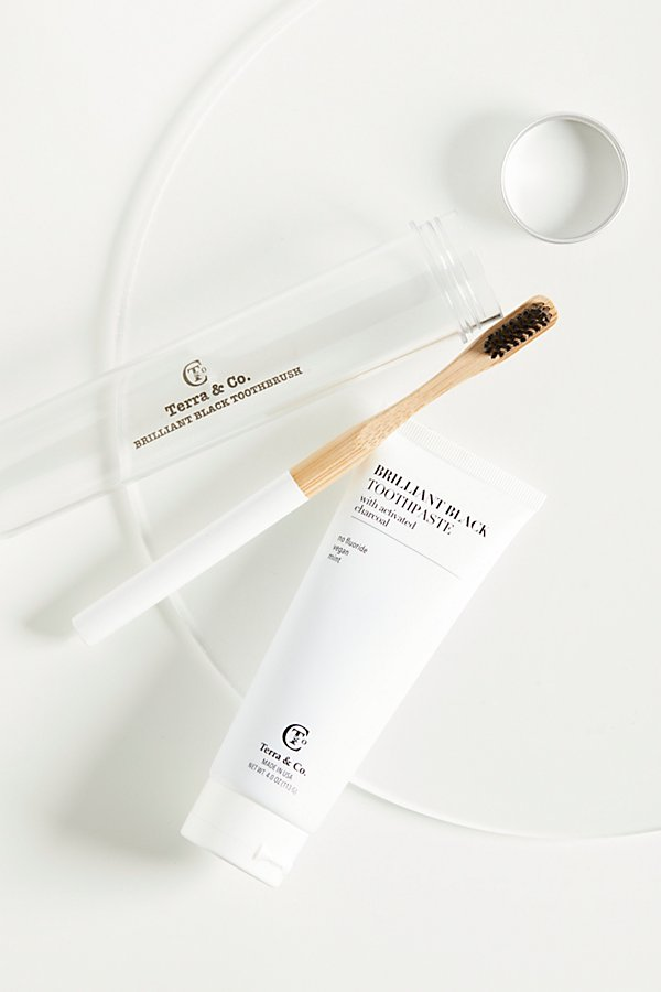 Slide View 1: Terra & Co. Brilliant Black Toothpaste & Toothbrush
