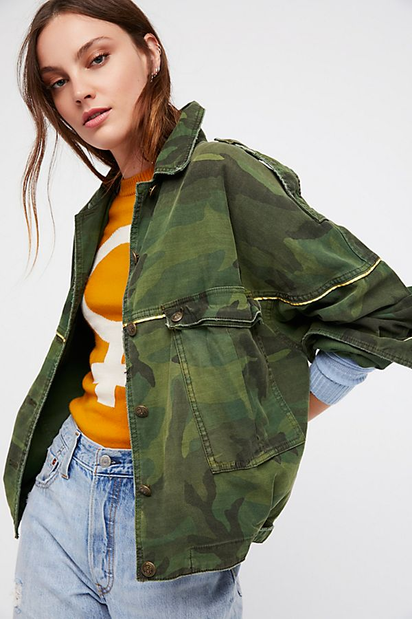 cf0a61c6cd717 Slouchy Military Jacket | Free People