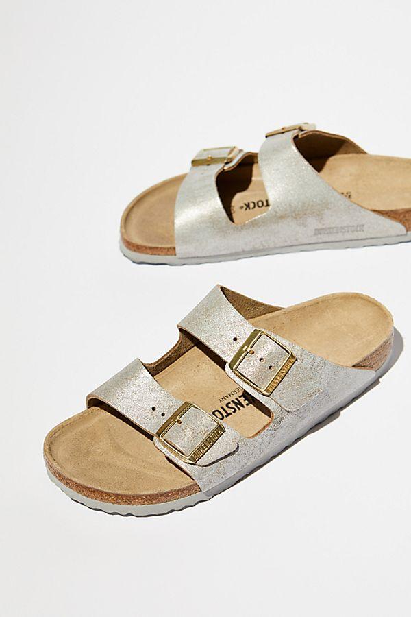 36668fa34 Arizona Washed Metallic Birkenstock Sandal | Free People UK