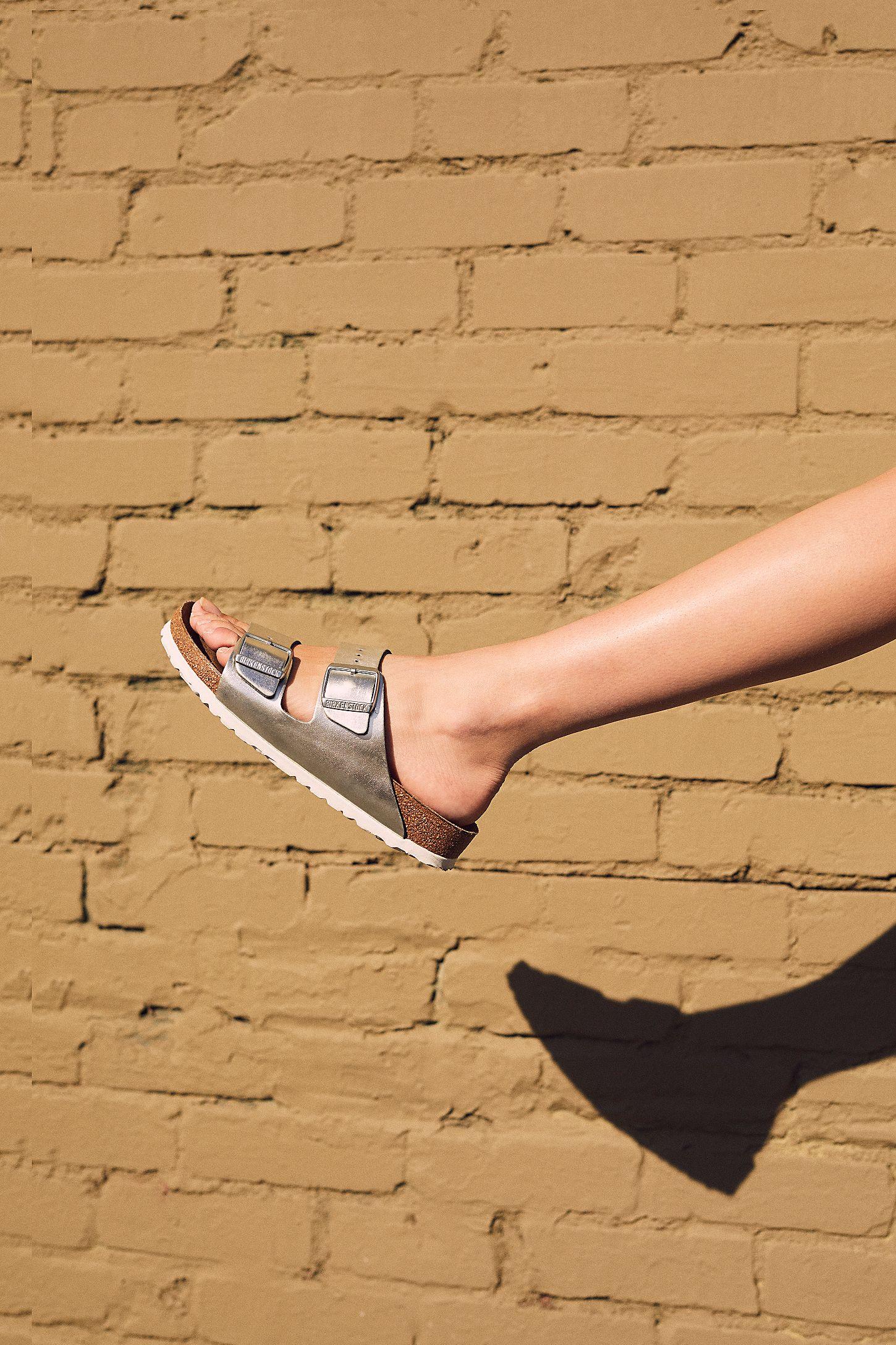 5ff7801385ab Slide View 5: Arizona Washed Metallic Birkenstock Sandal