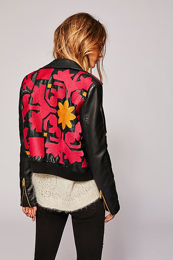 00629cc3a Embroidered Vegan Bomber