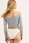 Thumbnail View 3: Textured Long Sleeve Crop