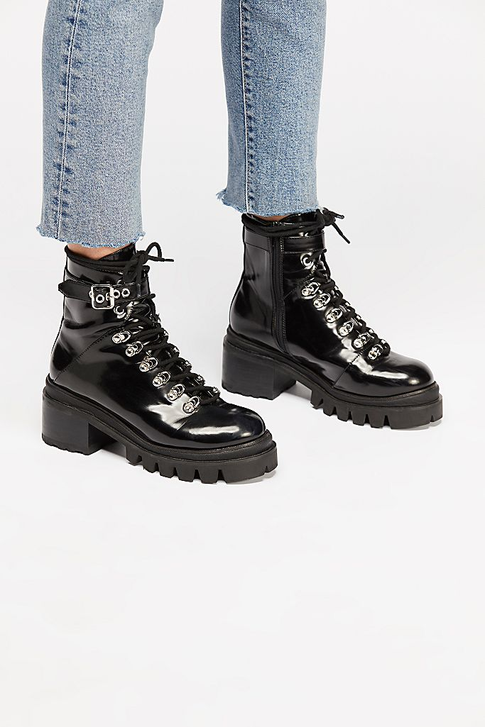 Check Lace Up Boots Free People