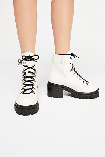 Check Lace-Up Boot