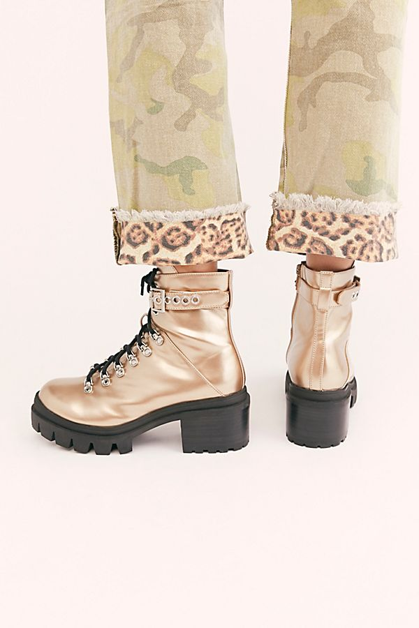 Check Lace Up Boot Free People