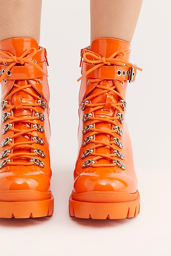 Slide View 3: Check Lace-Up Boot