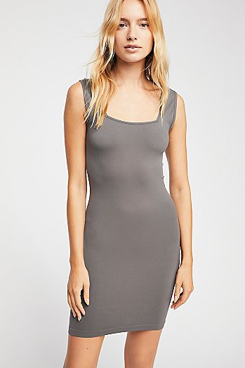 Square Neck Seamless Layering Slip