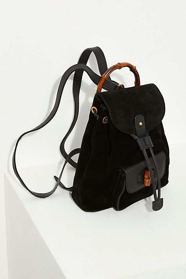 550ae05a33a Vintage Petite Gucci Bamboo Backpack