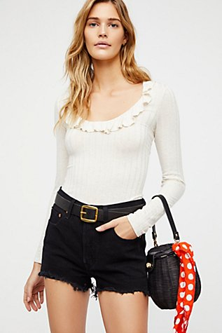 Levi's 501 High Rise Denim Shorts by Free People