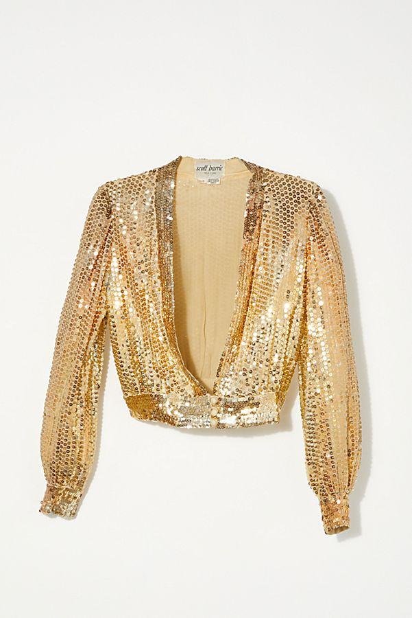 cf95171f67c44 Vintage 1970s Gold Sequin Top