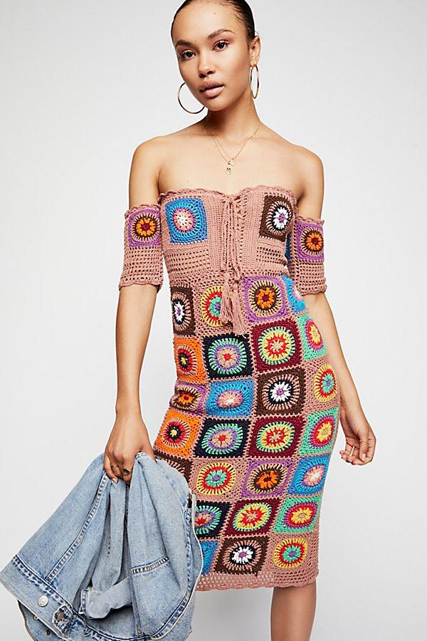 86ecddfae7ab Racing Hearts Crochet Midi Dress