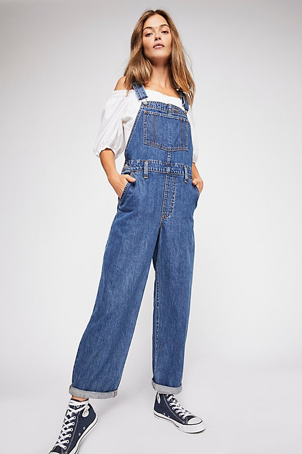 Slide View 2: Levi's Baggy Denim Overalls