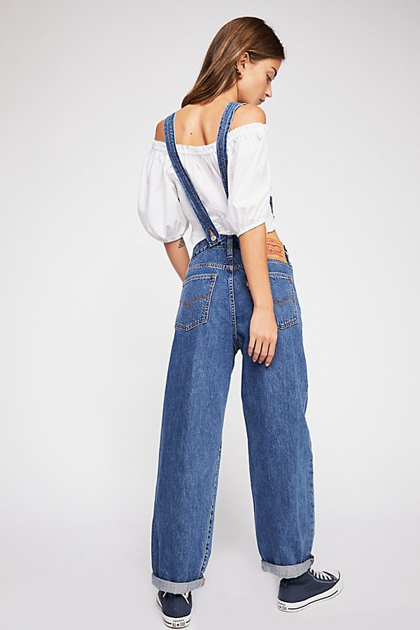 Slide View 3: Levi's Baggy Denim Overalls