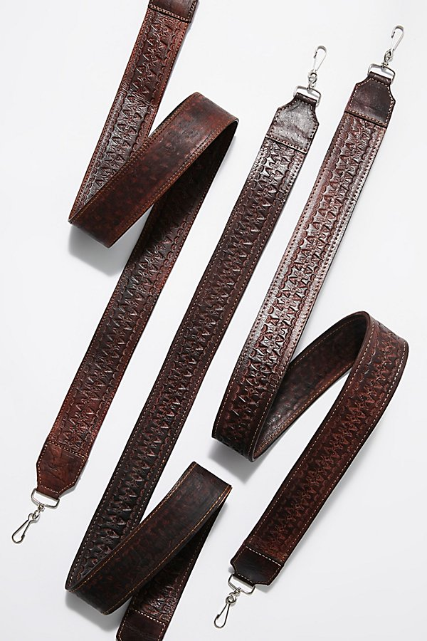 Slide View 1: Lexi Tooled Leather Camera Strap